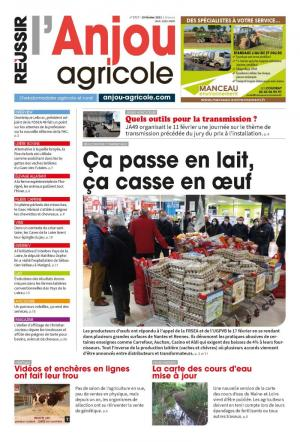 La couverture du journal L'Anjou Agricole n°3496 | septembre 2016